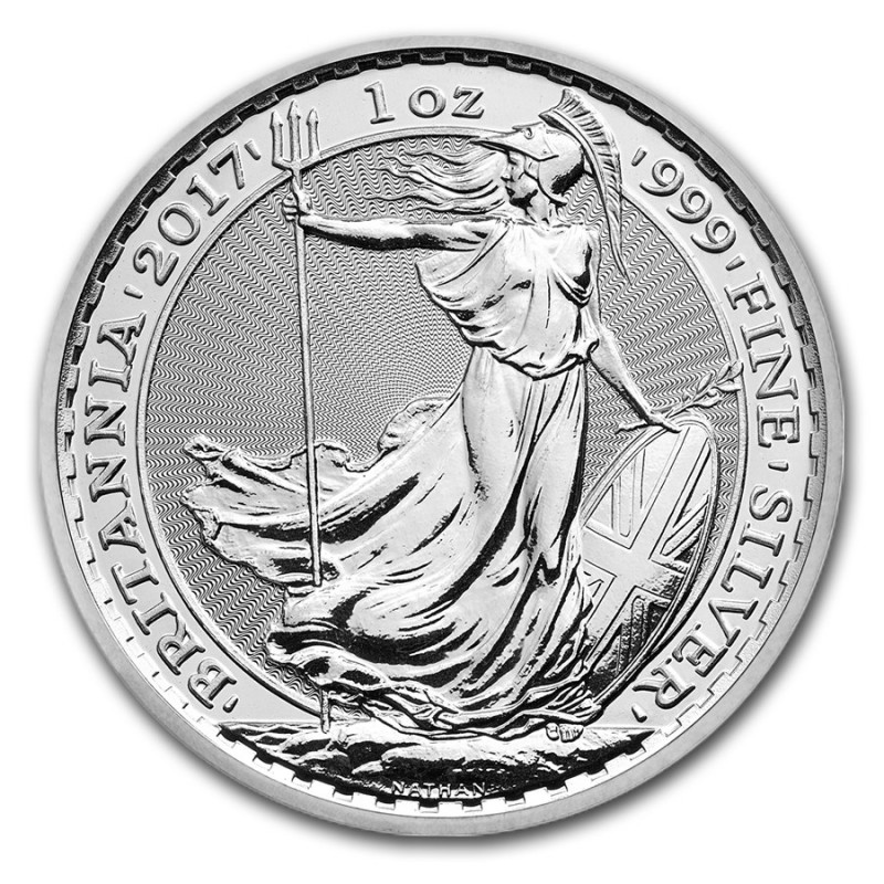 UK  999 1oz Silver Britannia Great Britain 2 Pounds