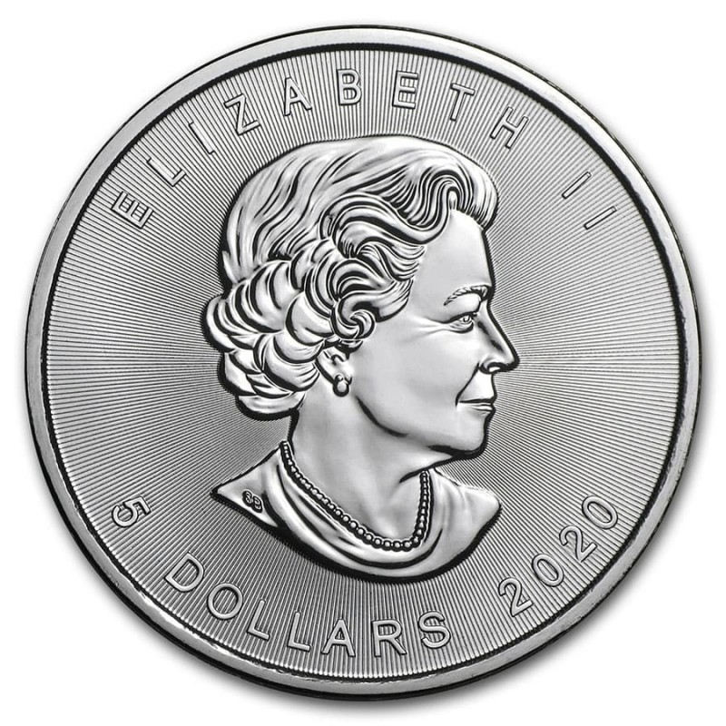 Vat Free 1oz Silver Maple Leaf Coin
