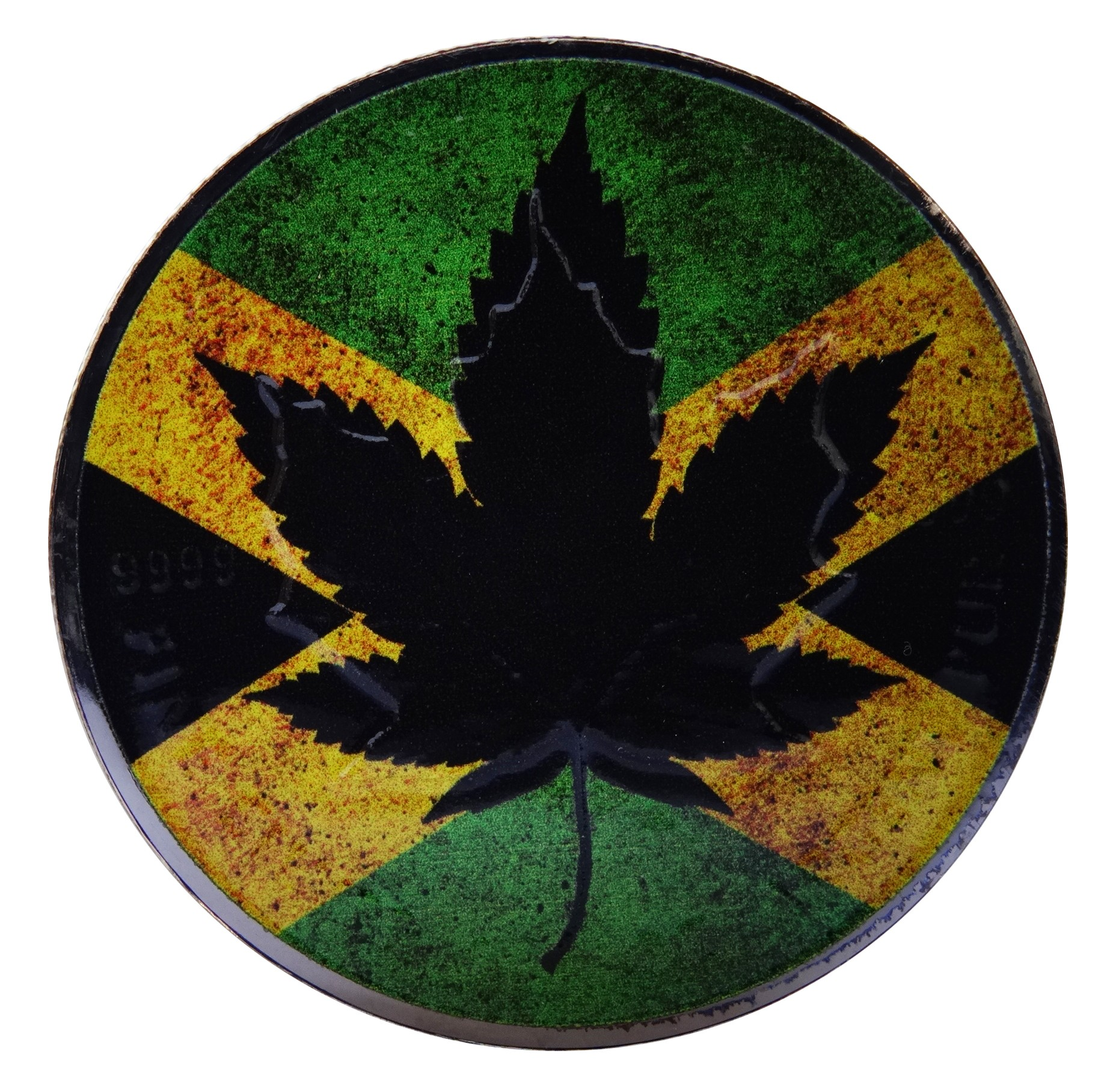 Canada Silver Maple Leaf Jamaican Coin 1oz Colored And