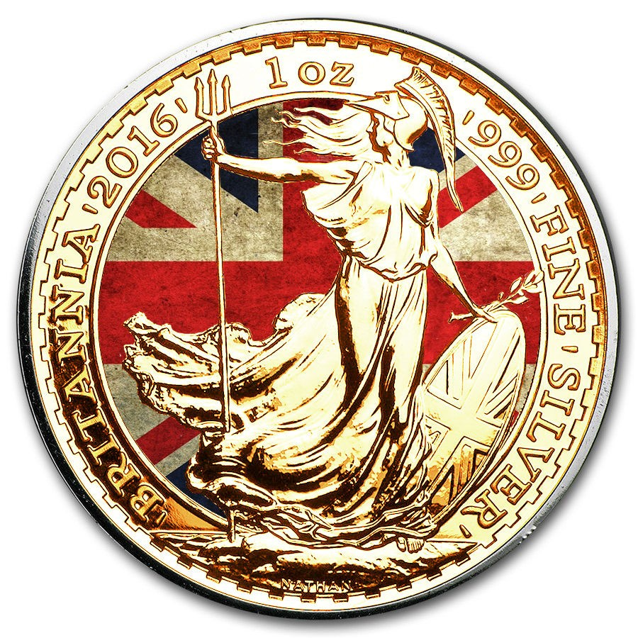 Buy Silver Britannia Coin Colored and Gold Gilded Buy ...