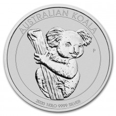 2020 1 Kilo $30 AUD Australian Koala Fine Silver Coin (IN CAPSULE)