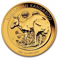 2021 1 oz Australia Gold Kangaroo Nugget BU (In Capsule)
