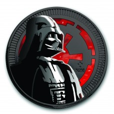 Silver Star Wars Darth Vader  Glow in the Dark ,Ruthenium plated, Colorized Coin