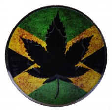 Canada Silver Maple Leaf Jamaican Coin 1 oz Colored and Ruthenium Plated