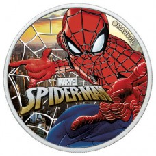 2017 Spiderman Colorized Sunset City Coin