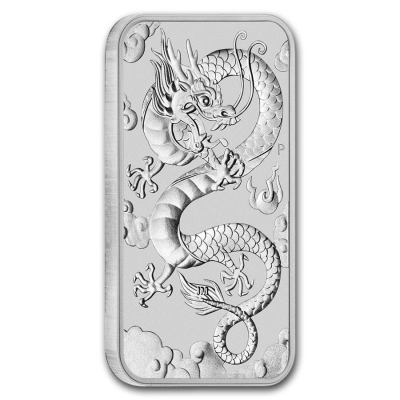 2019 Australia 1 Oz Silver Dragon Bar Buy Silver Coins