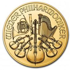 Kuldmünt Austrian Philharmonic , 1 troy unts, kullasisaldusega .9999