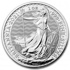2021 1 oz Great Britain Silver Britannia BU