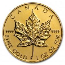 Kuldmünt Canada Maple Leaf , väärtusega 50 CAD, kullasisaldusega .9999